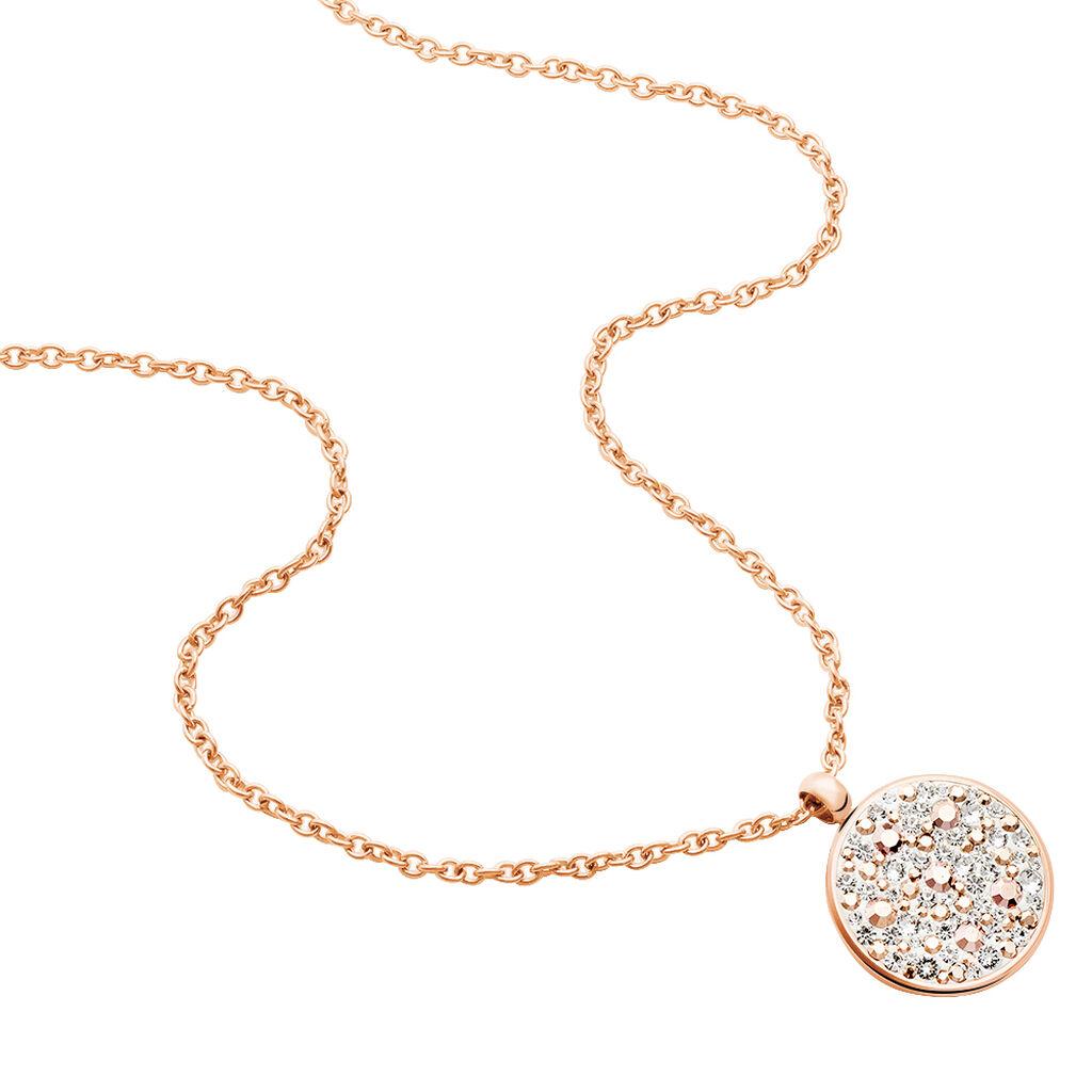 Damen Halskette Edelstahl Rosé Vergoldet Kristall - Ketten mit Anhänger Damen | Oro Vivo