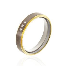 Boccia Damenring Titan Bicolor Diamant 0,015ct - Ringe mit Edelsteinen Damen   Oro Vivo