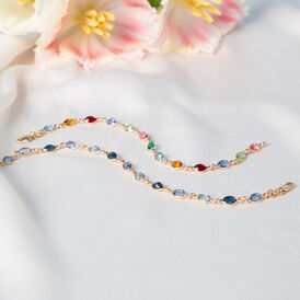 Damenarmband Vergoldet Blauer Synthetischer Stein  - Armbänder Damen | Oro Vivo