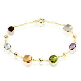 Damenarmband Gold 375 Amethyst Topas Citrin Quarz - Black Friday Damen | Oro Vivo