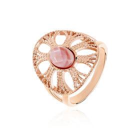 Damenring Edelstahl Rosé Vergoldet - Ringe mit Stein Damen | Oro Vivo
