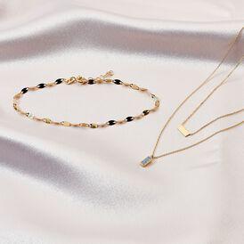 Damen Halskette Gold 375 Glitzer - Ketten ohne Stein    Oro Vivo