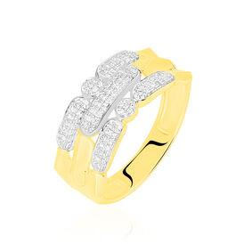 Damenring Gold 375 Diamanten 0,18ct - Ringe mit Edelsteinen Damen | Oro Vivo