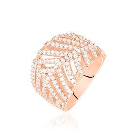 Damenring Silber 925 Rosé Vergoldet Zirkonia -  Damen | Oro Vivo