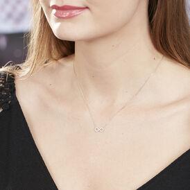 Damen Halskette Weißgold 375 Zirkonia Infinity - Ketten mit Anhänger Familie | Oro Vivo