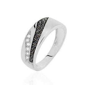 Damenring Weißgold 375 Diamant 0,26ct - Ringe mit Edelsteinen Damen | Oro Vivo