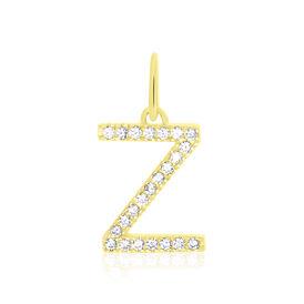 Anhänger Gold 375 Zirkonia Buchstabe Z - Personalisierte Geschenke Damen | Oro Vivo