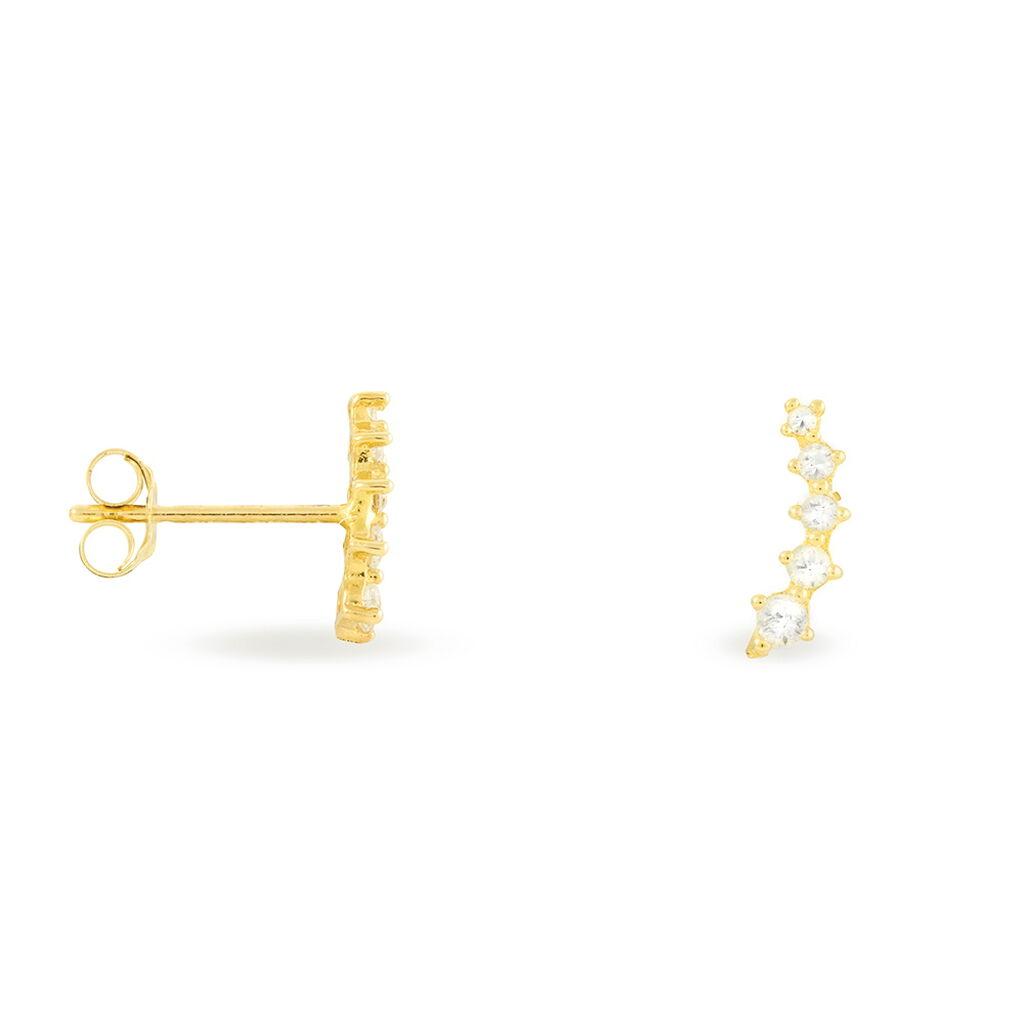 Damen Ohrstecker Gold 375 Zirkonia  - Ohrstecker Damen   Oro Vivo