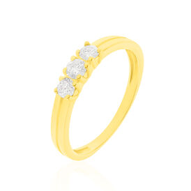 Damenring Gold 585 Diamanten 0,3ct - Ringe mit Edelsteinen Damen | Oro Vivo
