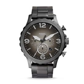 Fossil Herrenuhr Nate Jr1437 Quarz-chronograph - Analoguhren Herren   Oro Vivo