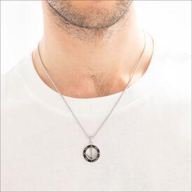 Herren Halskette Edelstahl Anker 50-55cm - Ketten mit Anhänger Herren   Oro Vivo
