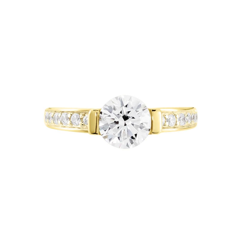 Damenring Gold 375 Zirkonia - Ringe mit Stein Damen | Oro Vivo