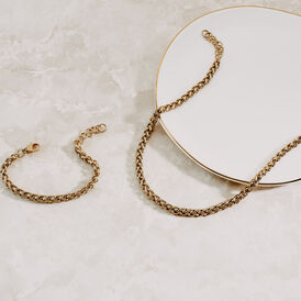 Damenarmband Fuchsschwanzkette Edelstahl Vergoldet - Armketten  | Oro Vivo