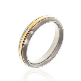 Boccia Damenring Titan Bicolor Diamant 0,015ct -  Damen | Oro Vivo