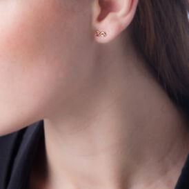 Damen Ohrstecker Vergoldet Infinity - Ohrstecker Damen   Oro Vivo