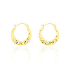 Damen Creolen Gold 375 Kristalle - Creolen Damen | Oro Vivo