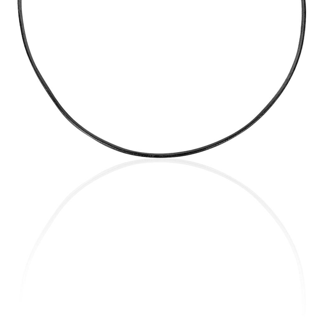Unisex Kunstleder Kette Silber 925 45cm - Ketten ohne Anhänger Unisex | Oro Vivo