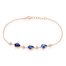 Damenarmband Silber 925 Rosé Vergoldet Zirkonia - Black Friday Damen   Oro Vivo