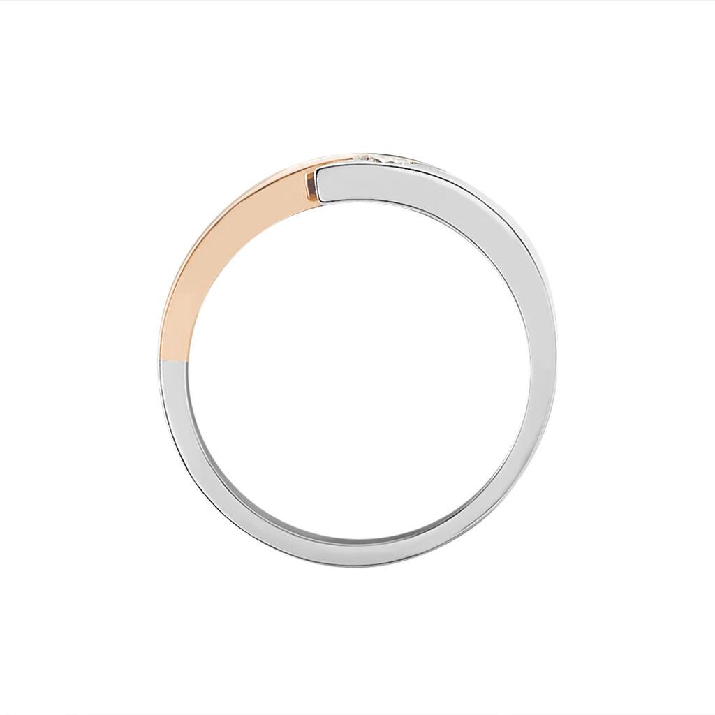Spannring Gold 585 Bicolor Diamant 0,13ct - Ringe mit Edelsteinen Damen | Oro Vivo