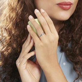 Damenring Weißgold 375 Diamant 0,02ct - Ringe mit Edelsteinen Damen | Oro Vivo