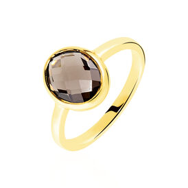 Damenring Gold 375 Rauchquarz 1,2ct - Black Friday Damen | Oro Vivo
