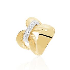 Damenring Vergoldet Bicolor Zirkonia  - Ringe mit Stein Damen | Oro Vivo