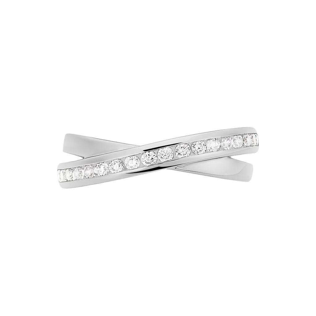 Damenring Silber 925 Zirkonia - Eheringe Damen   Oro Vivo