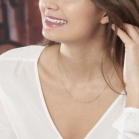 Damen Ankerkette Gold 375 Diamantiert 55cm - Ketten ohne Anhänger Damen | Oro Vivo