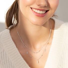 Damen Halskette Silber 925 Zirkonia  - Ketten mit Anhänger Familie | Oro Vivo