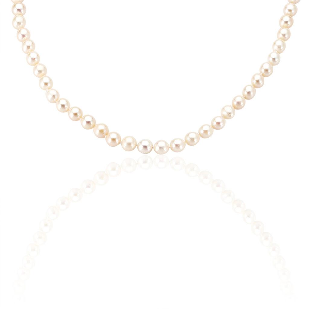 Damen Collier Silber 925 Zuchtperlen 7-8mm - Ketten mit Stein Damen | Oro Vivo