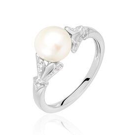 Damenring Silber 925 Zuchtperle Zirkonia -  Damen | Oro Vivo