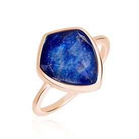 Damenring Silber 925 Rosé Vergoldet Lapislazuli - Ringe mit Stein Damen | Oro Vivo