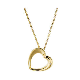 Damen Halskette Vergoldet Zirkonia - Herzketten Damen | Oro Vivo
