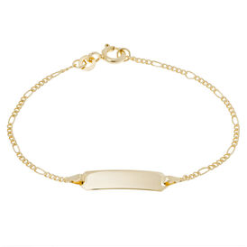 Kinder Id Armband Gold 333 Gravierbar - ID-Armbänder Kinder | Oro Vivo