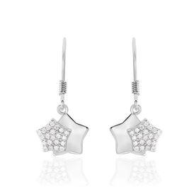 Damen Ohrhänger Lang Silber 925 Zirkonia Stern -  Damen | Oro Vivo