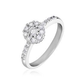 Damenring Weißgold 750 Diamanten 0,5ct - Ringe mit Edelsteinen  | Oro Vivo