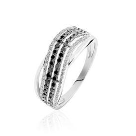 Damenring Weißgold 375 Diamanten 0,108ct - Ringe mit Edelsteinen Damen | Oro Vivo