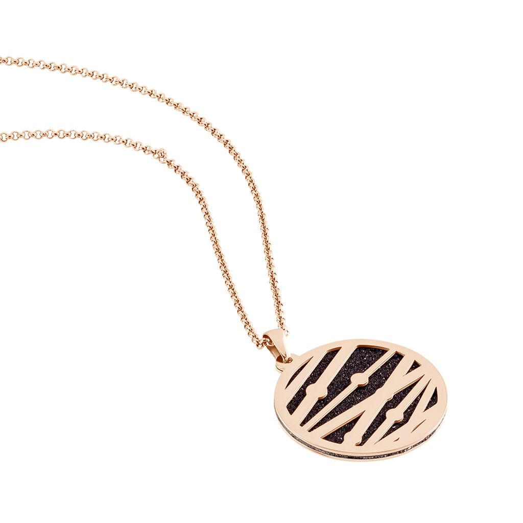 Damen Halskette Edelstahl Rosé vergoldet Kreis - Ketten mit Anhänger Damen | Oro Vivo