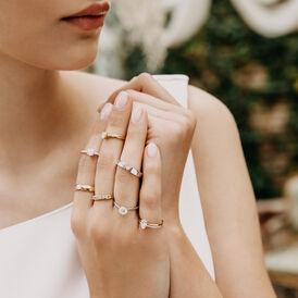 Spannring Weißgold 375 Diamant 0,04ct - Ringe mit Edelsteinen Damen | Oro Vivo