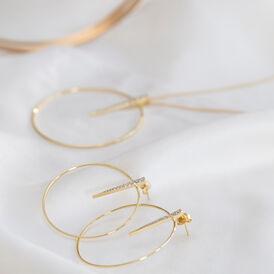 Damen Halskette Silber 925 Vergoldet Zirkonia - Ketten mit Anhänger  | Oro Vivo