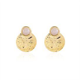 Damen Ohrstecker Gold plattiert Quarz - Ohrringe Damen   Oro Vivo