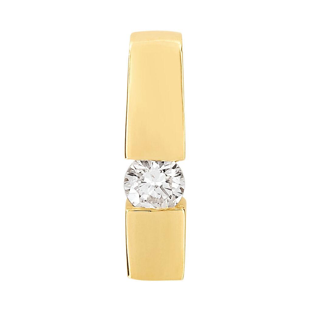 Anhänger Gold 585 Diamant 0,2ct Solitär - Schmuckanhänger Damen | Oro Vivo