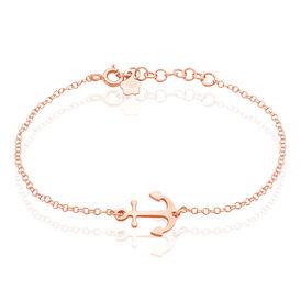 Damenarmband Silber 925 Rosé Vergoldet Anker - Armbänder Damen | Oro Vivo