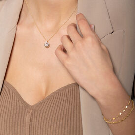 Damen Halskette Gold 375 Zirkonia - Ketten mit Anhänger Damen | Oro Vivo