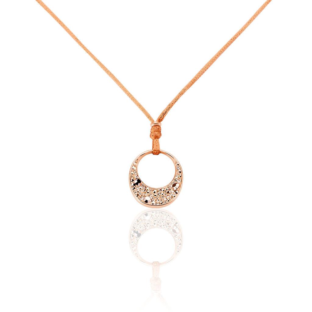 Damen Halskette Edelstahl Rosé Vergoldet Kristall - Ketten mit Anhänger Damen   Oro Vivo