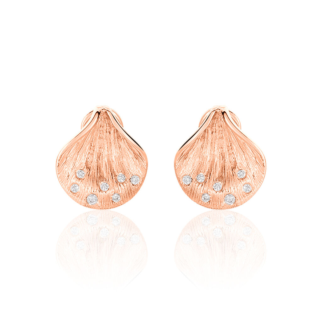 Damen Creolen Gold 750 Rosé Vergoldet Diamant - Creolen Damen | Oro Vivo