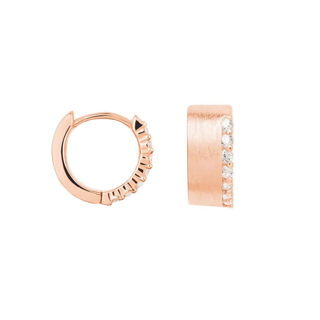 Damen Creolen Silber 925 Rosé Vergoldet Zirkonia  - Creolen Damen | Oro Vivo