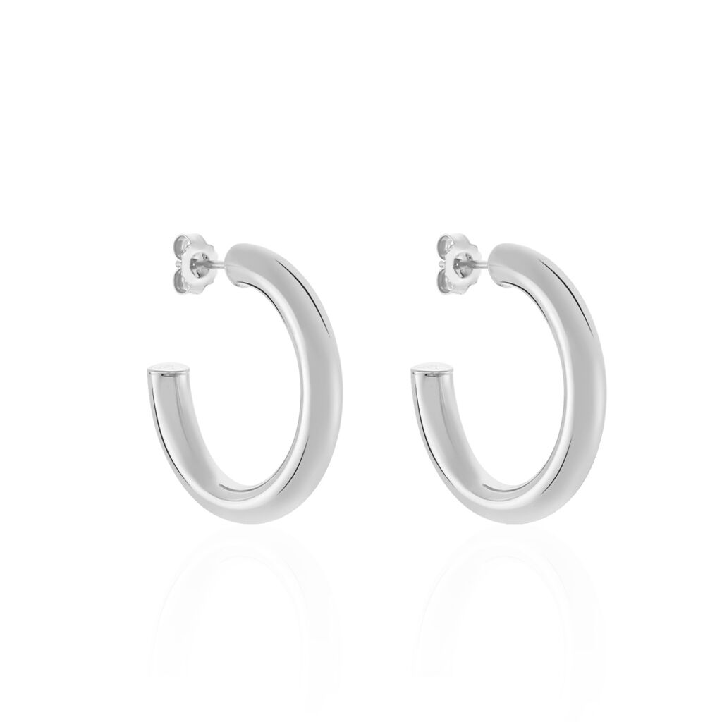 Damen Steckcreolen Silber 925 30mm - Creolen Damen | Oro Vivo
