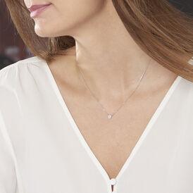 Damen Halskette Weißgold 375 Diamanten 0,07ct - Ketten mit Anhänger Damen | Oro Vivo