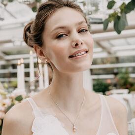 Damen Halskette Silber 925 Zuchtperlen Zirkonia - Ketten mit Anhänger Damen | Oro Vivo